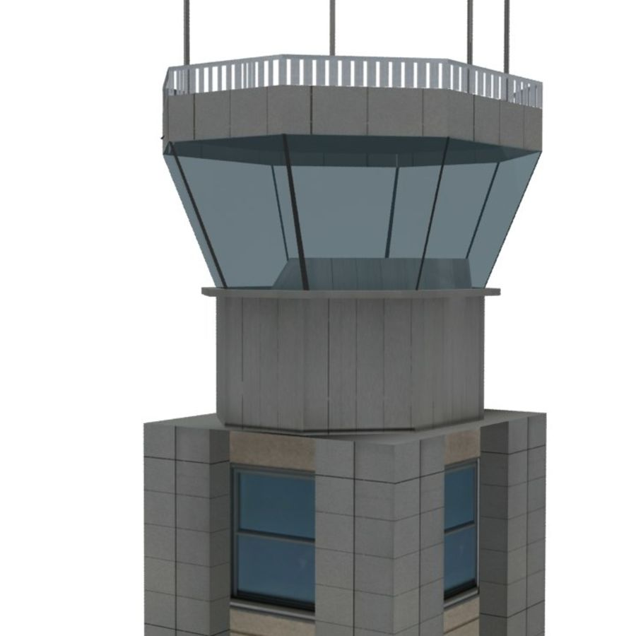 Flight Control Tower 1 royalty-free 3d model - Preview no. 5