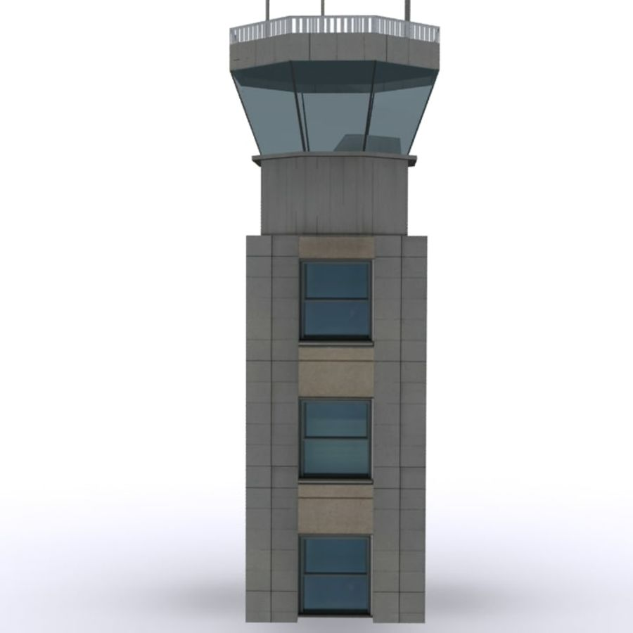 Flight Control Tower 1 royalty-free 3d model - Preview no. 3