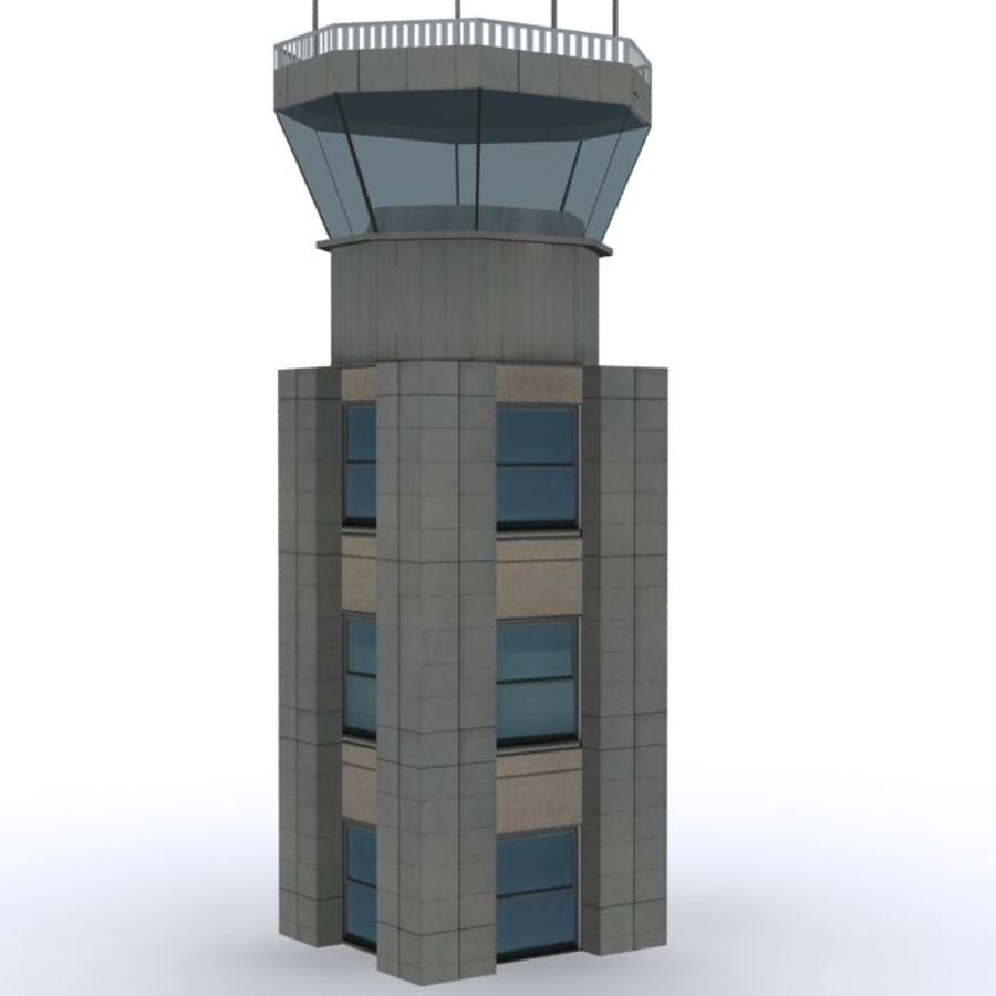 Flight Control Tower 1 royalty-free 3d model - Preview no. 1