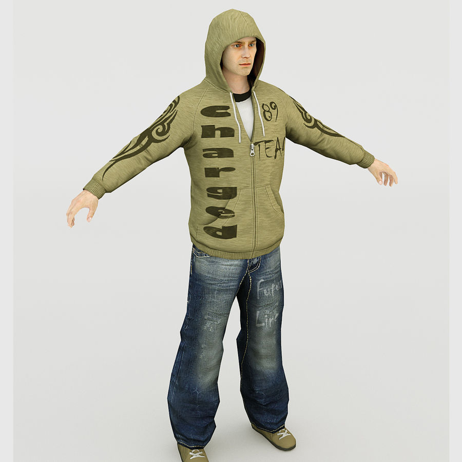 Rappeur royalty-free 3d model - Preview no. 1