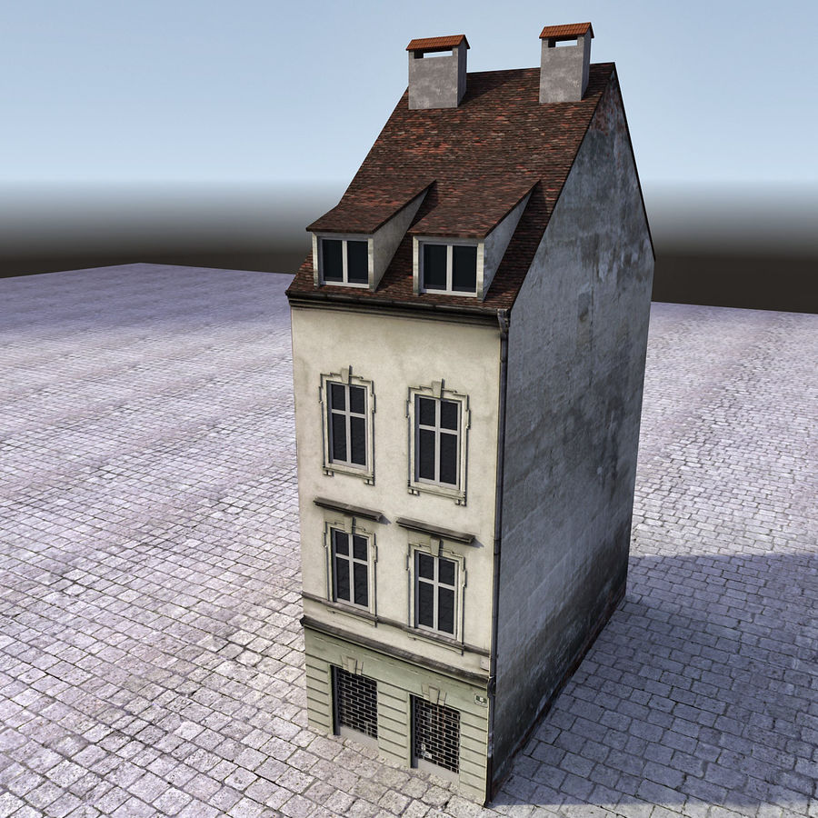 Europees Gebouw 022 Emona royalty-free 3d model - Preview no. 5