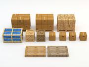 Industrail-pakket 3d model