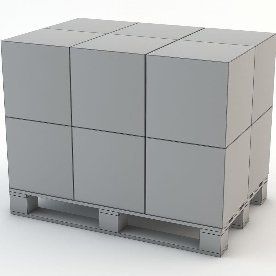 Pallet boxes royalty-free 3d model - Preview no. 5