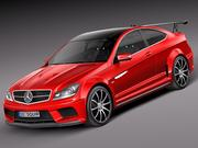 Mercedes-Benz C63 AMG Black 2013 3d model