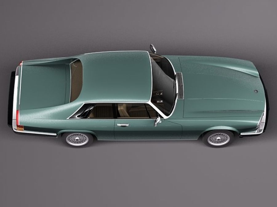 Ягуар XJS купе 1975 royalty-free 3d model - Preview no. 8