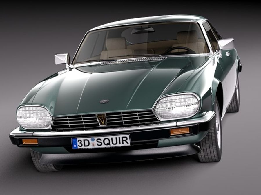 Ягуар XJS купе 1975 royalty-free 3d model - Preview no. 2