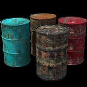 Barriles de petroleo modelo 3d