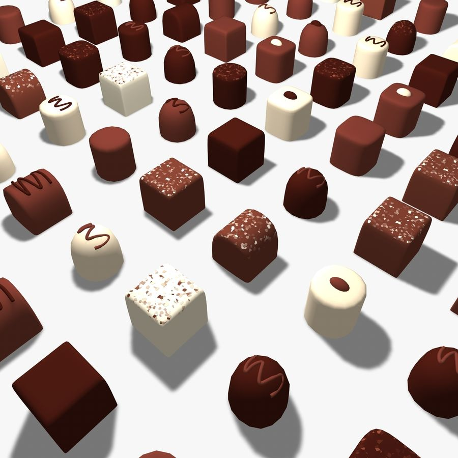 Chocolats simples royalty-free 3d model - Preview no. 5
