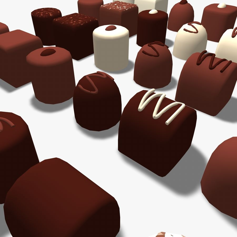 Chocolats simples royalty-free 3d model - Preview no. 4