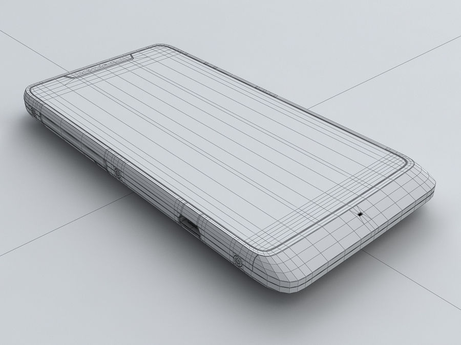 Motorola DROID RAZR M royalty-free 3d model - Preview no. 24