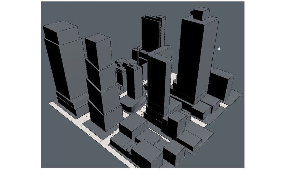 Times Square royalty-free 3d model - Preview no. 6