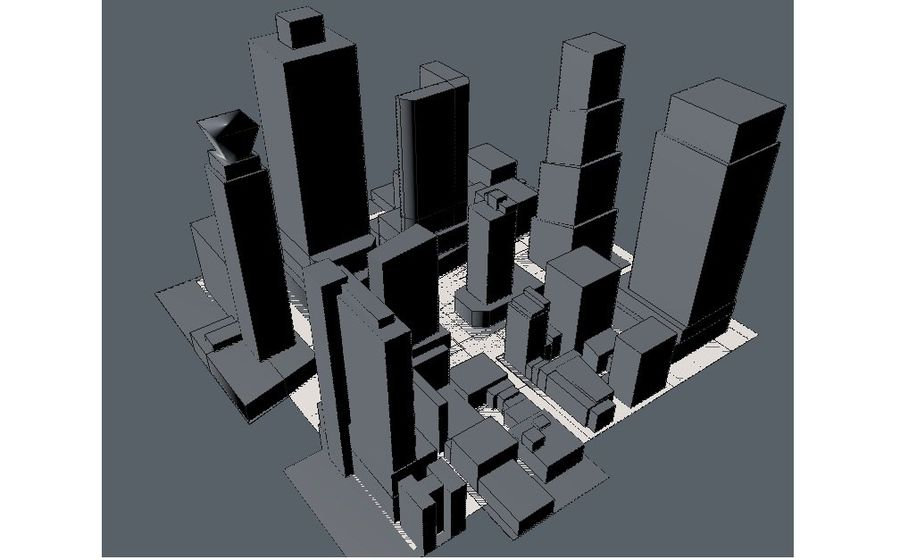 Times Square royalty-free 3d model - Preview no. 5