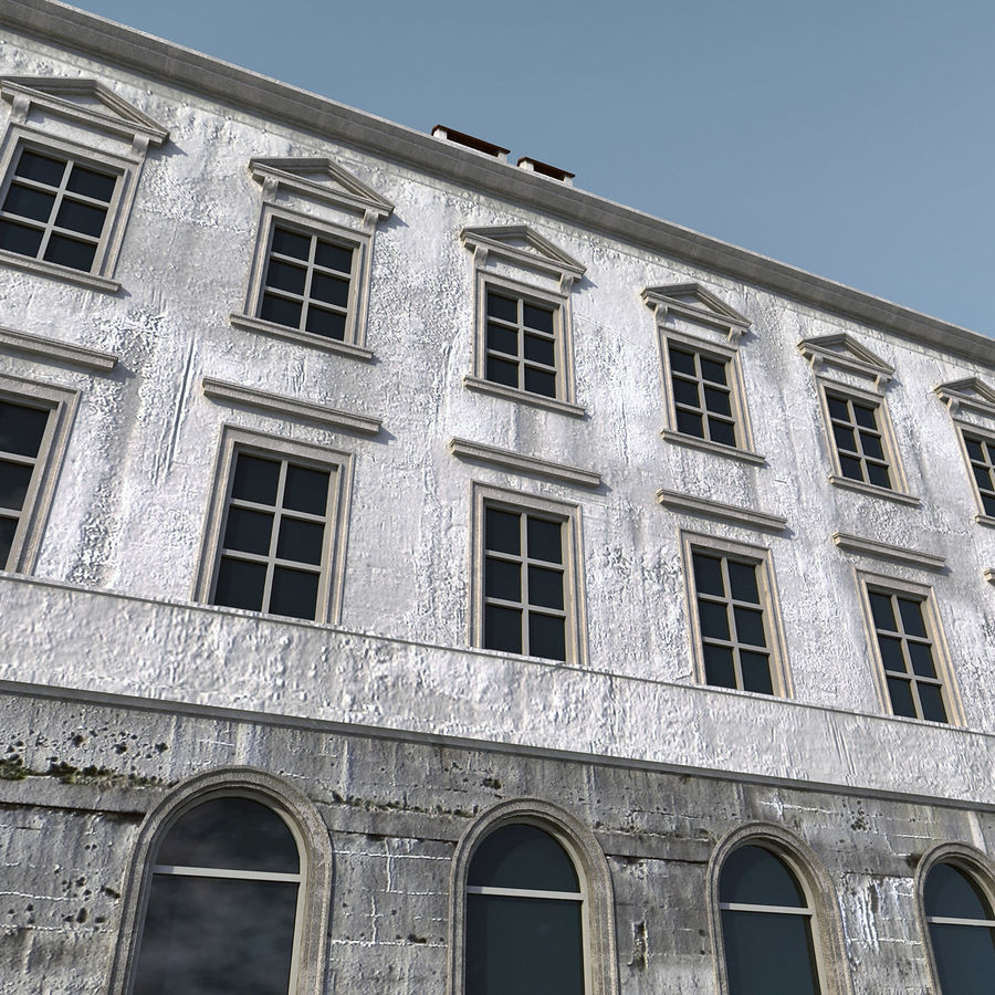 European Building 012 royalty-free 3d model - Preview no. 2