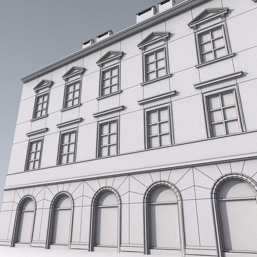 European Building 012 royalty-free 3d model - Preview no. 13