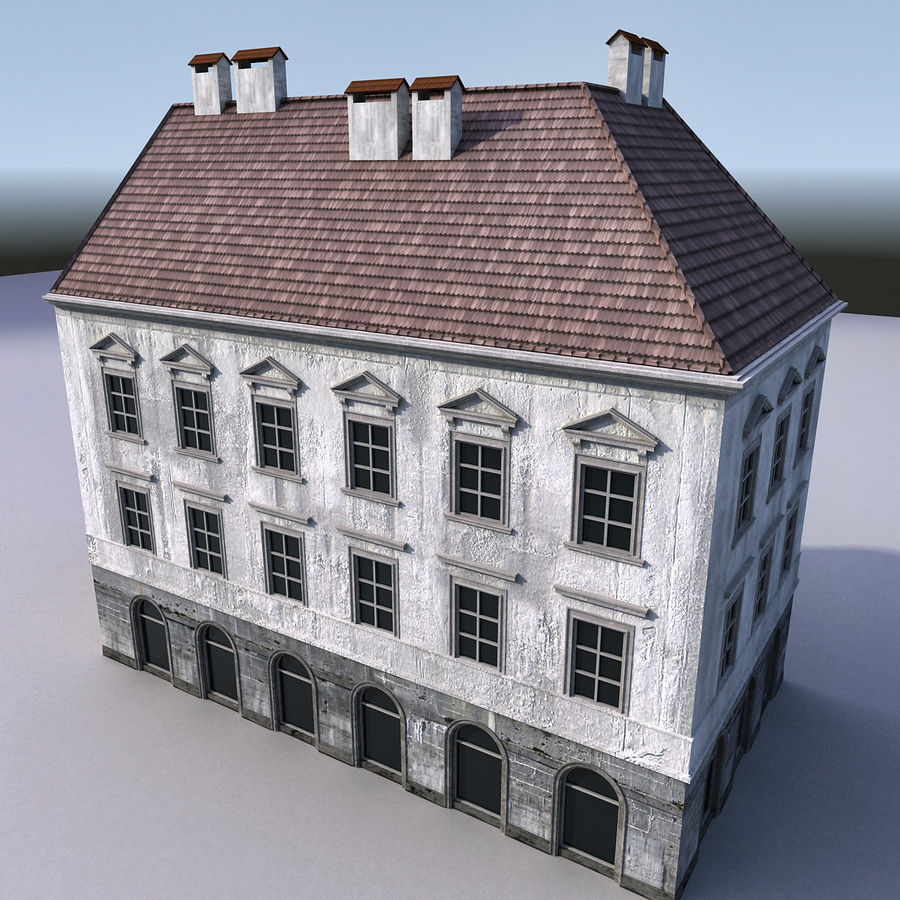 European Building 012 royalty-free 3d model - Preview no. 5