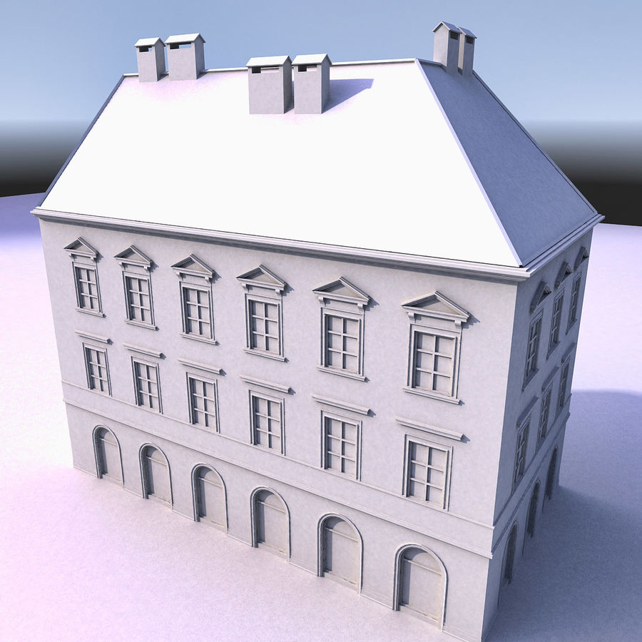 European Building 012 royalty-free 3d model - Preview no. 11