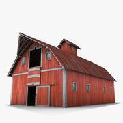 Красный сарай 3d model