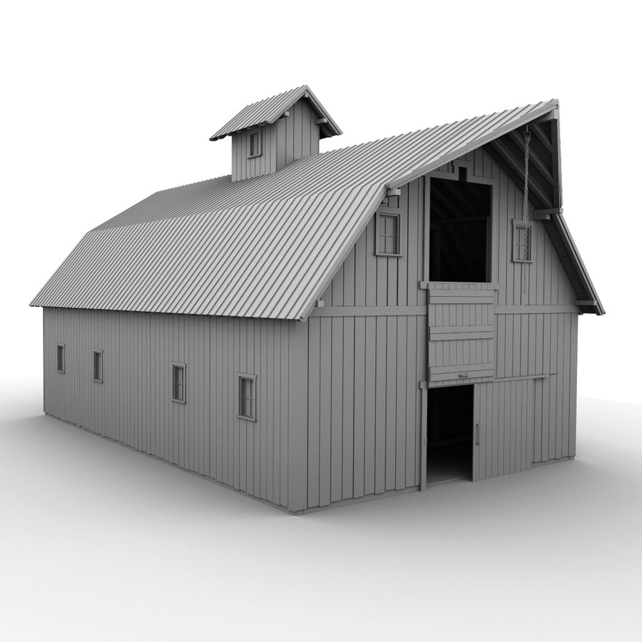 Red Barn royalty-free 3d model - Preview no. 12