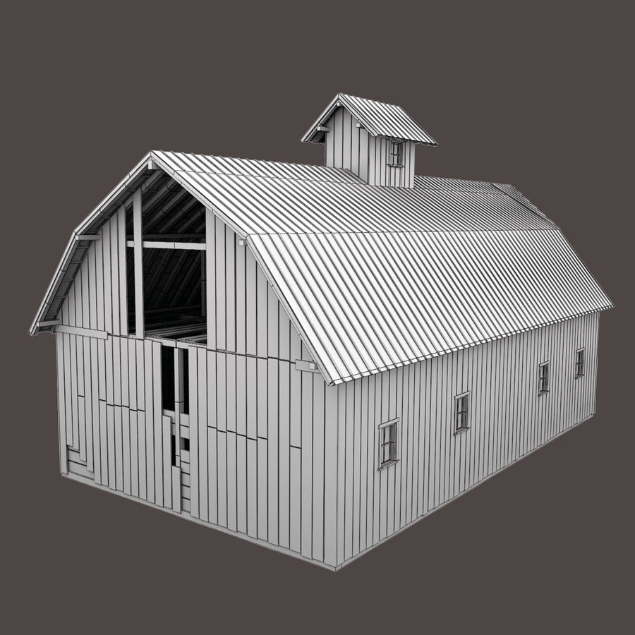 Red Barn royalty-free 3d model - Preview no. 14
