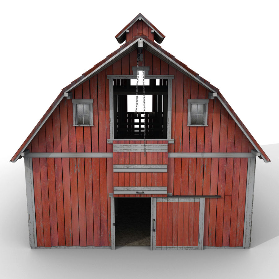 Red Barn royalty-free 3d model - Preview no. 11