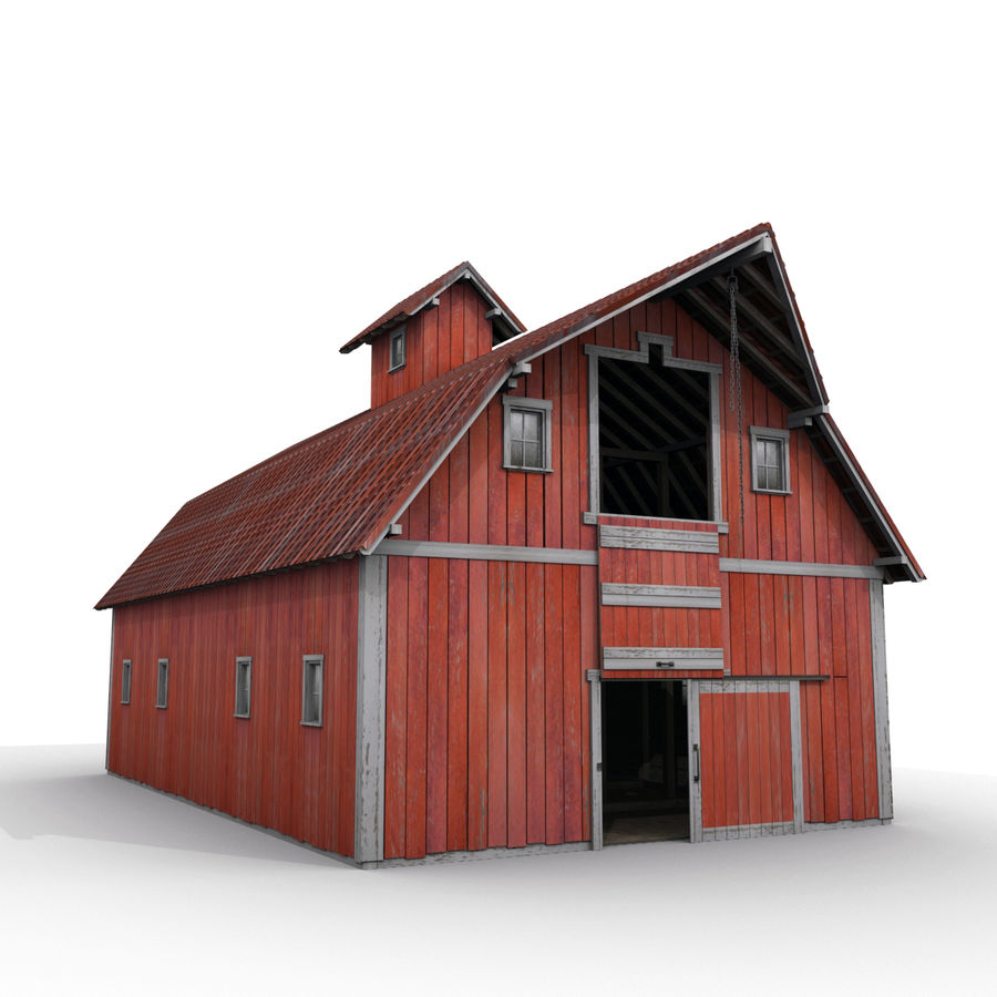 Red Barn royalty-free 3d model - Preview no. 7
