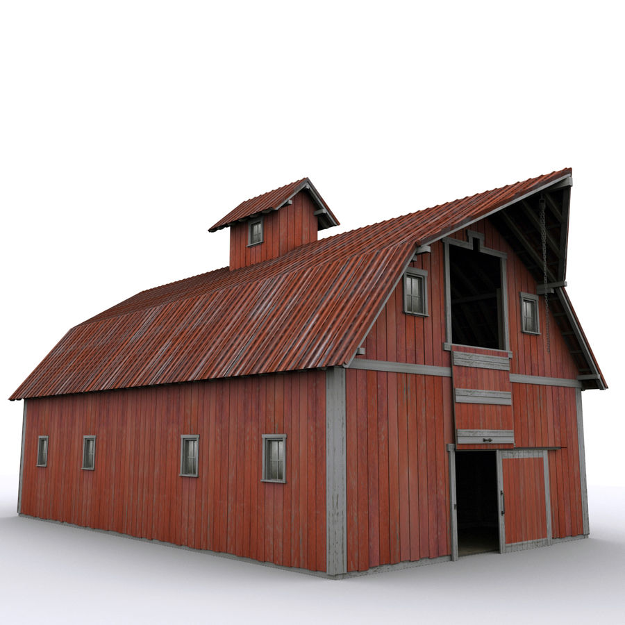 Red Barn royalty-free 3d model - Preview no. 6