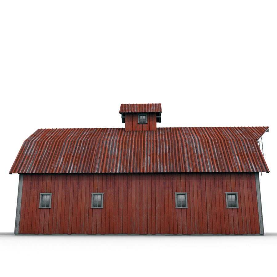Red Barn royalty-free 3d model - Preview no. 8