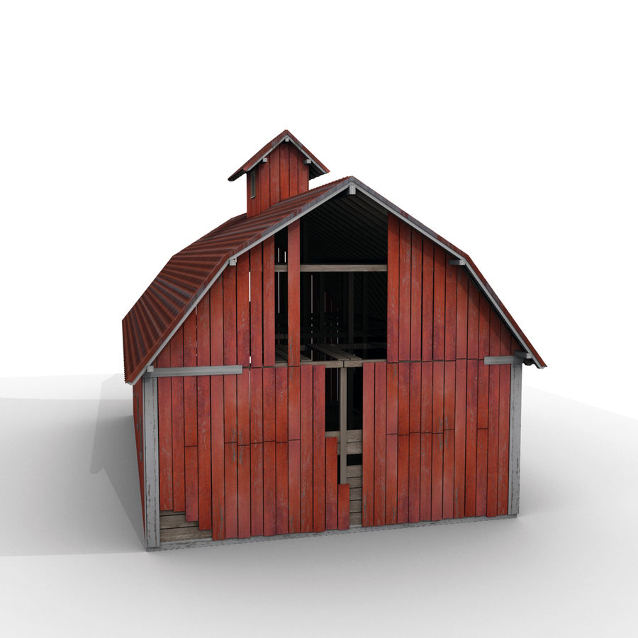 Red Barn royalty-free 3d model - Preview no. 10