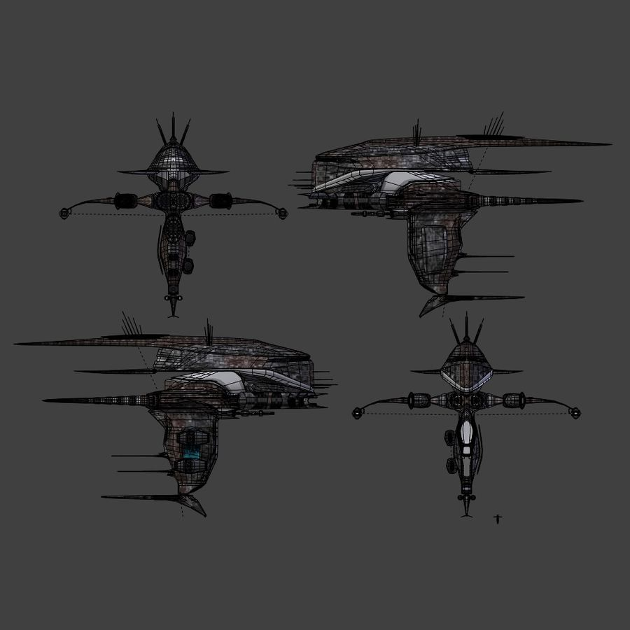 Alien royalty-free 3d model - Preview no. 8