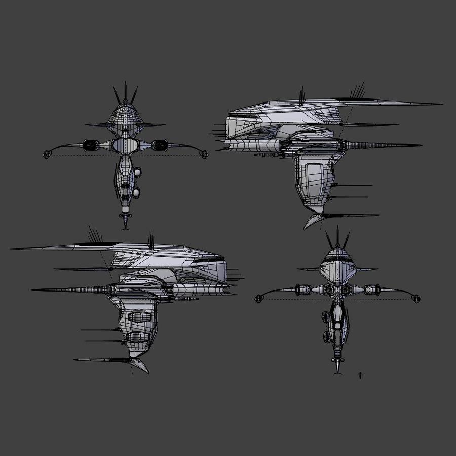 Alien royalty-free 3d model - Preview no. 9