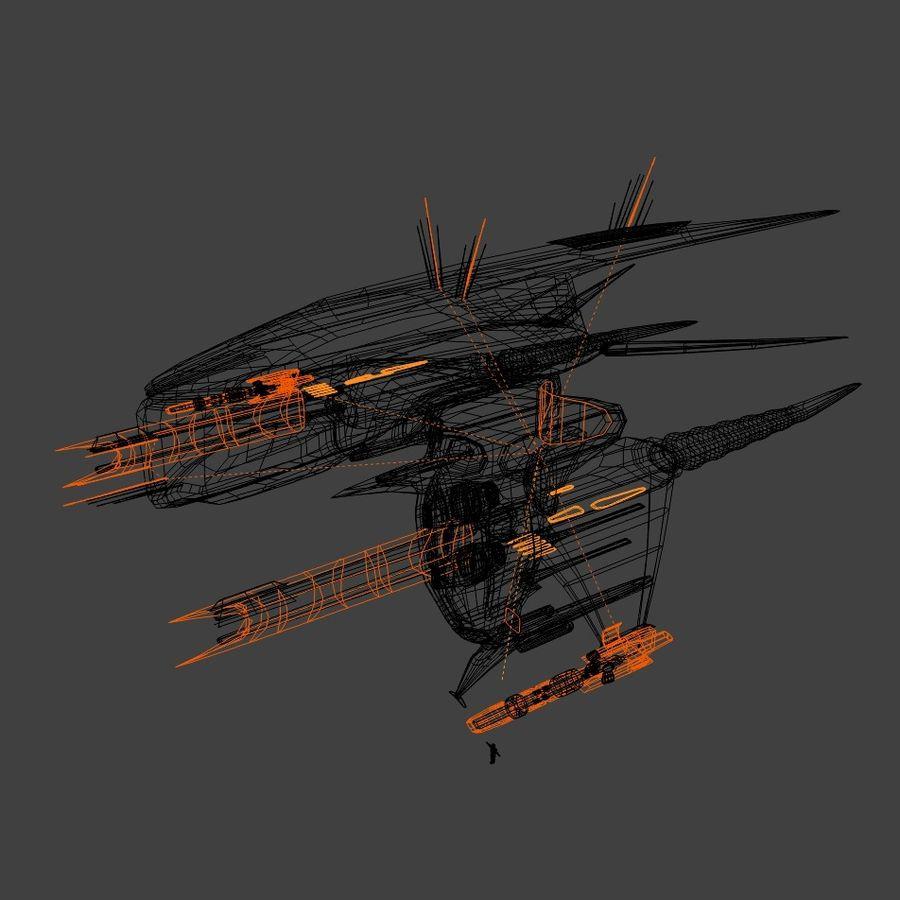 Alien royalty-free 3d model - Preview no. 3
