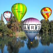 熱気球 3d model