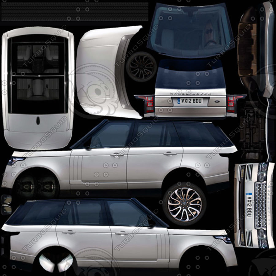 Range Rover 2012 royalty-free 3d model - Preview no. 8