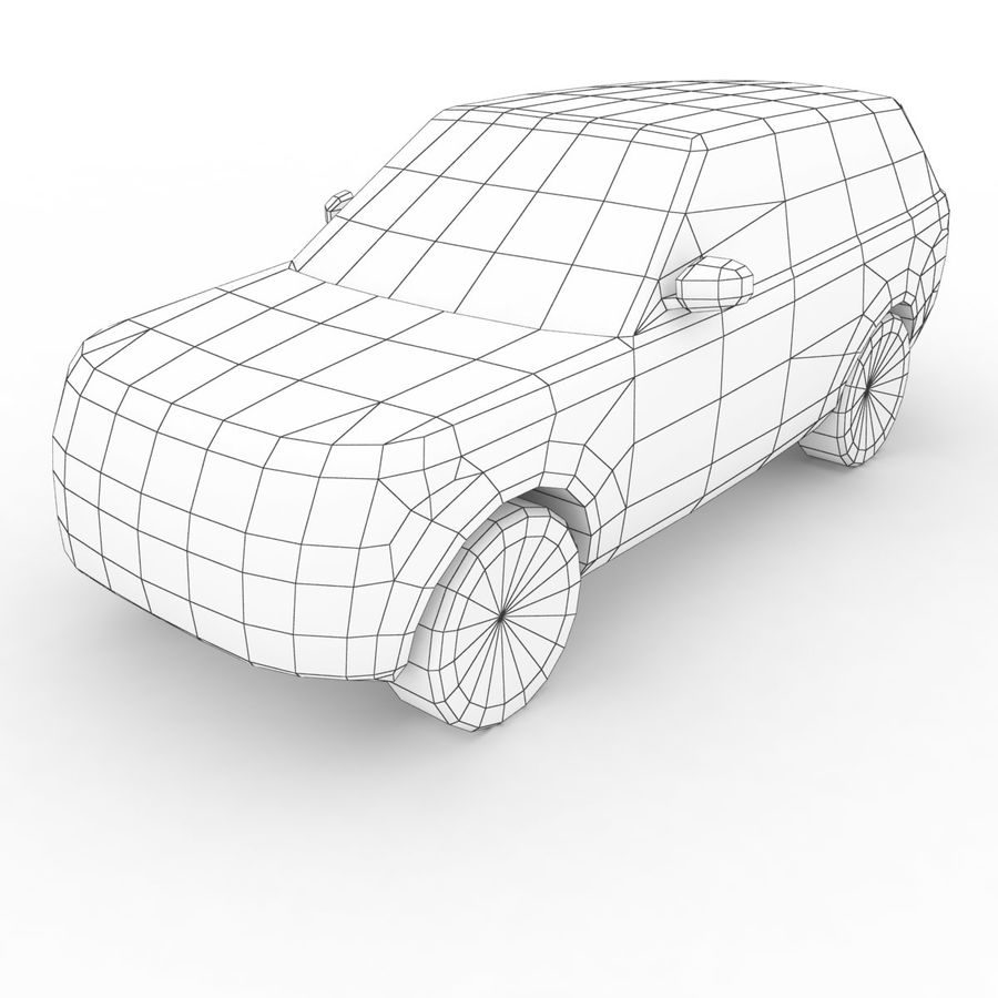Range Rover 2012 royalty-free 3d model - Preview no. 6
