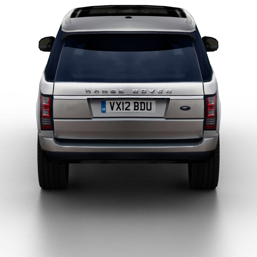 Range Rover 2012 royalty-free 3d model - Preview no. 5