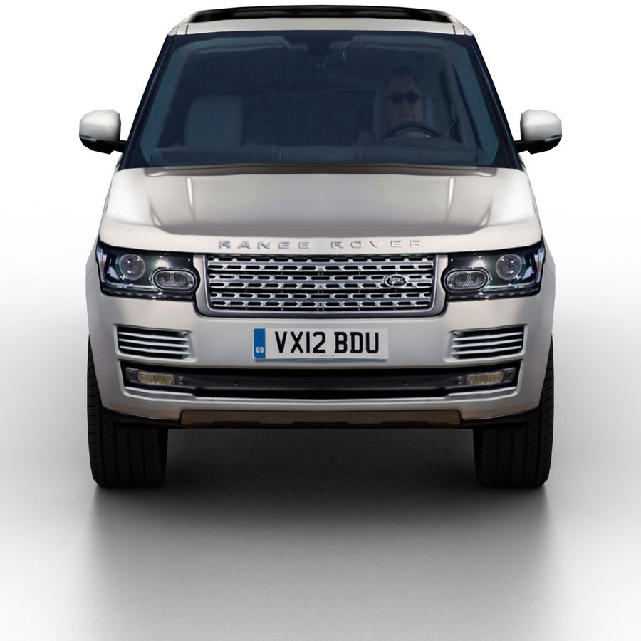 Range Rover 2012 royalty-free 3d model - Preview no. 4