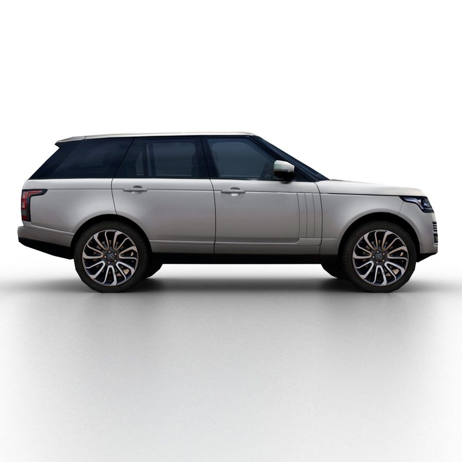 Range Rover 2012 royalty-free 3d model - Preview no. 3