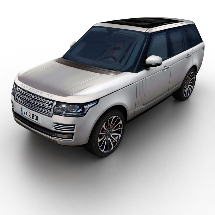 Range Rover 2012 royalty-free 3d model - Preview no. 1