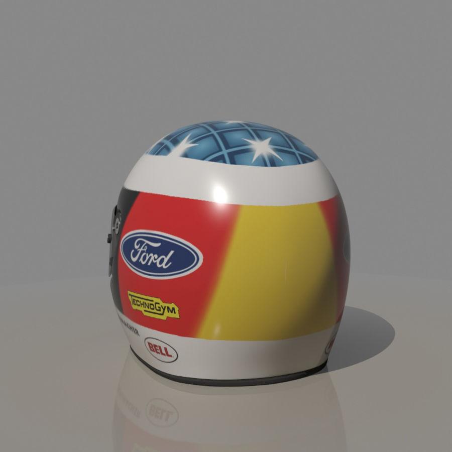 Michael Schumacher 1994 Helmet royalty-free 3d model - Preview no. 3