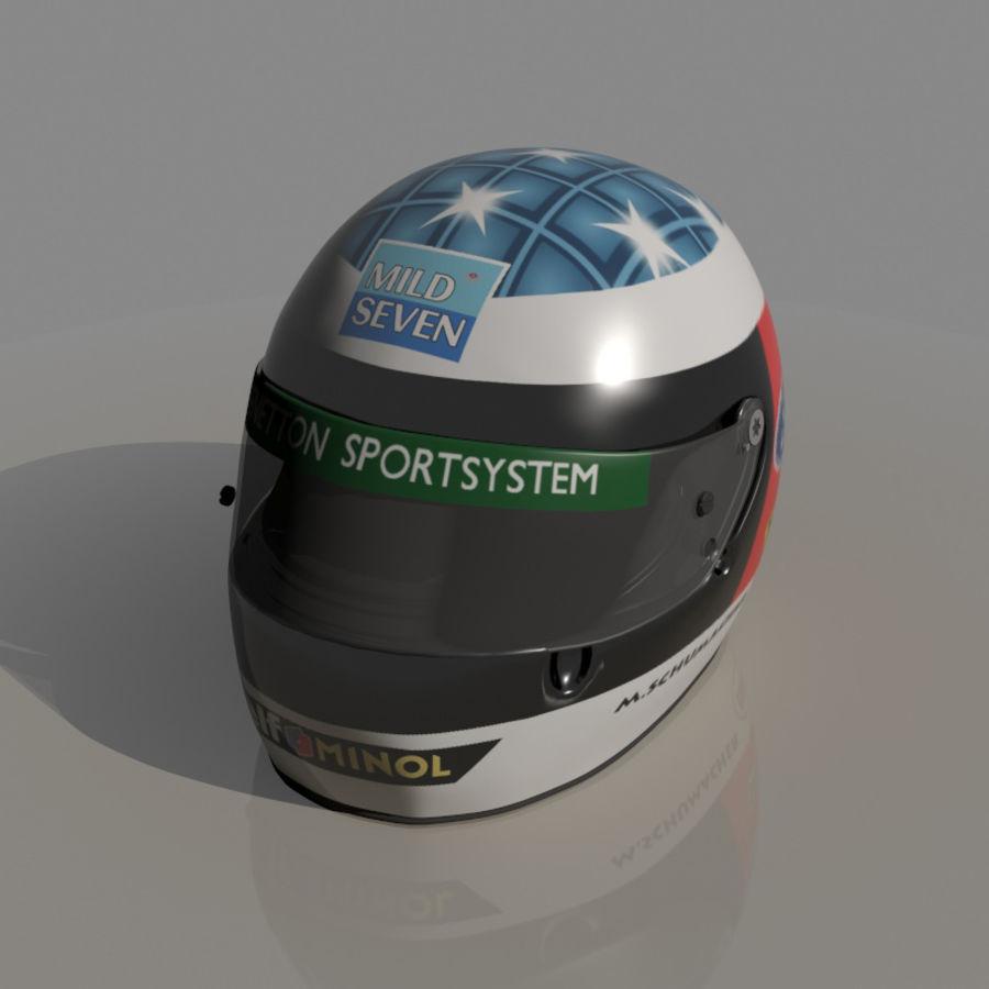 Michael Schumacher 1994 Helmet royalty-free 3d model - Preview no. 1