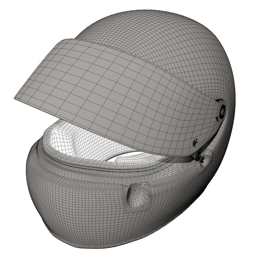 Michael Schumacher 1994 Helmet royalty-free 3d model - Preview no. 10