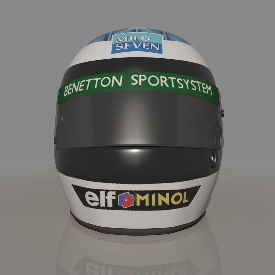 Michael Schumacher 1994 Helmet royalty-free 3d model - Preview no. 6