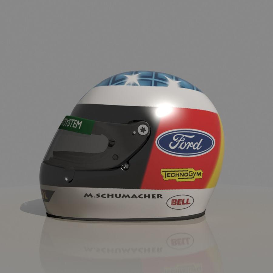 Michael Schumacher 1994 Helmet royalty-free 3d model - Preview no. 2