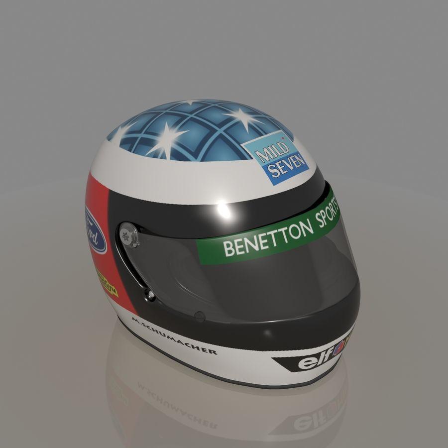 Michael Schumacher 1994 Helmet royalty-free 3d model - Preview no. 5