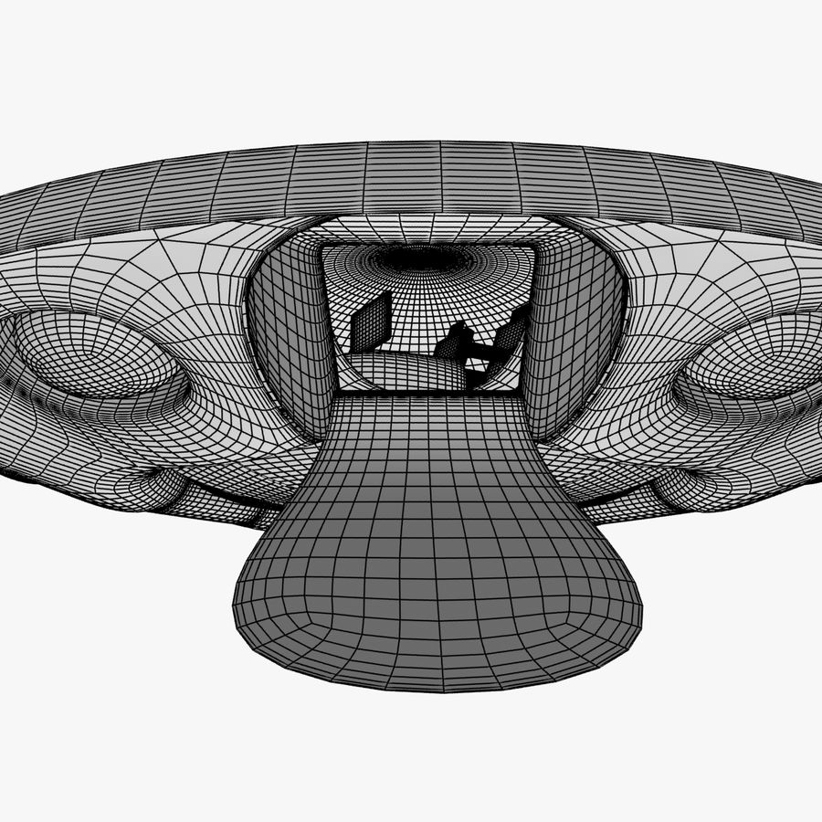 UFO royalty-free 3d model - Preview no. 17