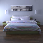상세 침대 색깔 3d model