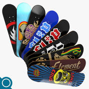 Skateboard Deck 3d model