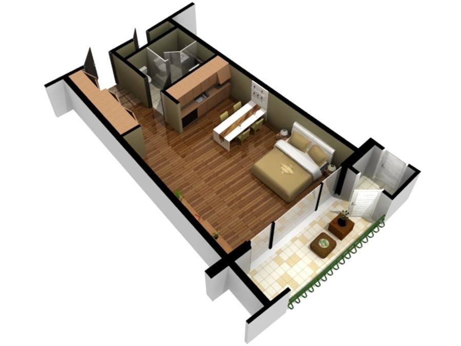 3D Floor Plan Doll House View 08 Royalty Free 3d Model   Preview No.