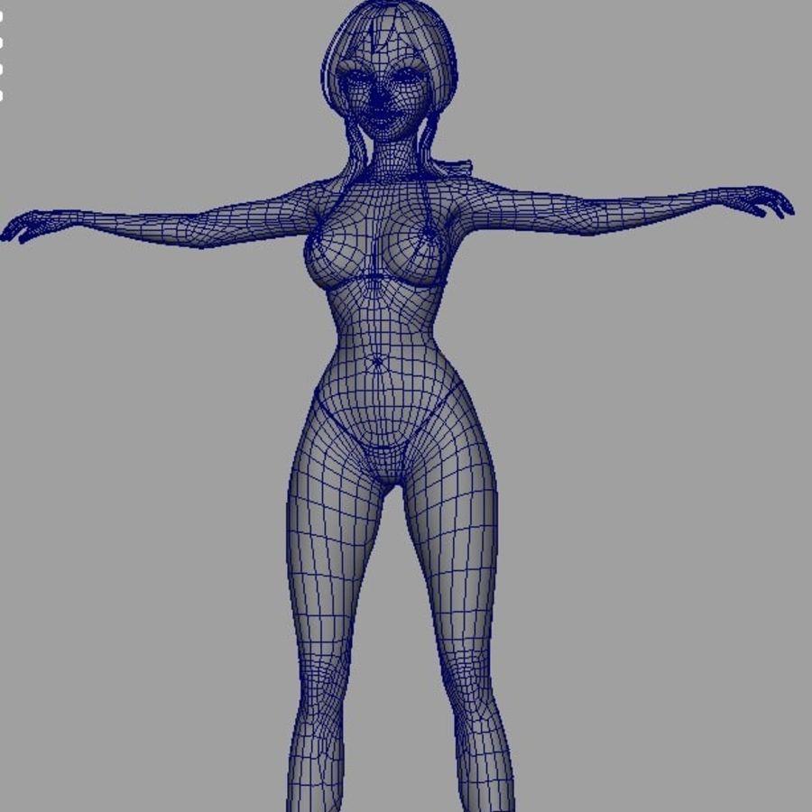 Girl in bikini royalty-free 3d model - Preview no. 11