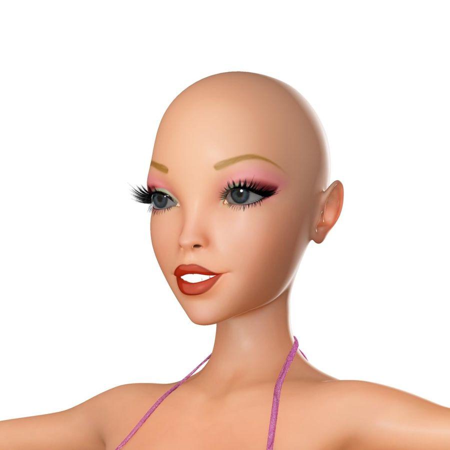 Girl in bikini royalty-free 3d model - Preview no. 9